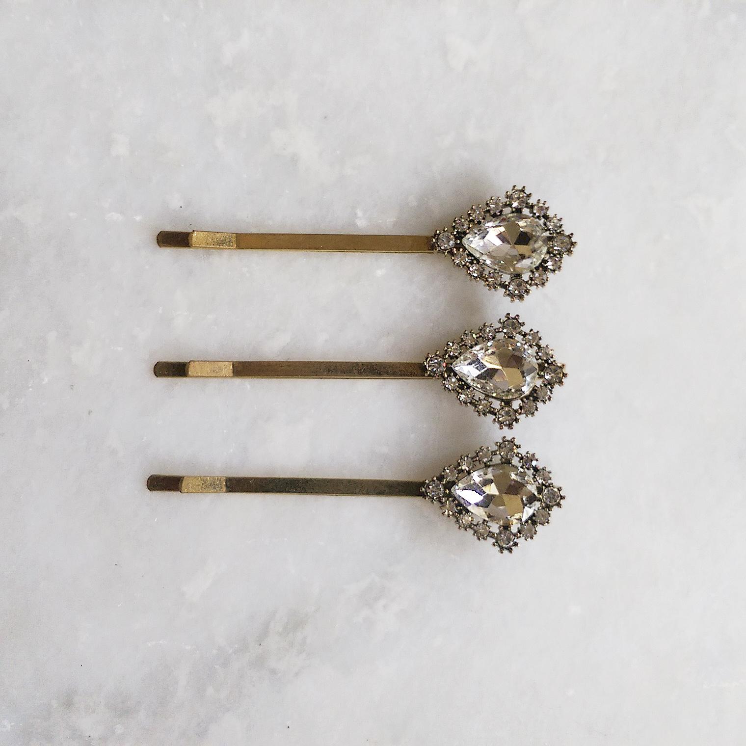 Bridal Star Hair Pins Pearl And Crystal Vintage Style Wedding Hair Accessory