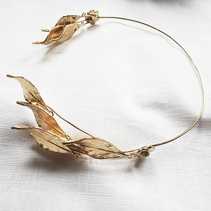 Leaf bridal crown, Greek Godess bridal hair vine