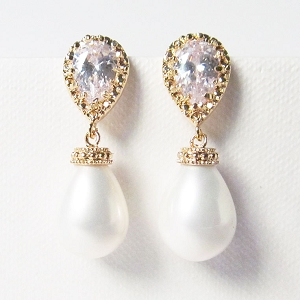 Pearl Wedding Earrings